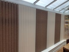 Mixed colours in vertical blinds for the conservatory #Runcorn #blinds