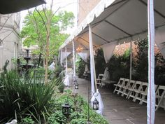 Walkway with tent