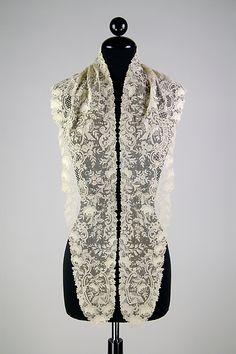 Fichu, 1890-1900, Belgian, linen, The Met