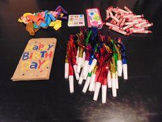 Creating birthday bags