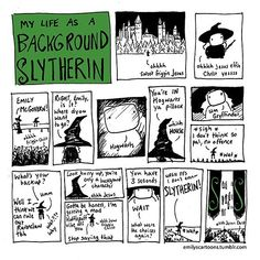 Check out ma blerrrrg: www.emilyscartoons.tumblr.com #slytherin #art #cartoon #comic #HP #harrypotter #hogwarts