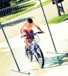 How to make a drive-through sprinkler for bikes PLUS 9 other super smart DIY Splash Park Hacks