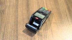 Helcim - Replacing the Reciept Paper on an Ingenico Telium Terminal Credit Card Terminal, Credit Card Machine, Walkie Talkie, Paper, Cards, Business, Check, Store, Map