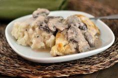 Smothered Chicken with Mushroom Gravy- yum, yum, YUM! A new favorite.