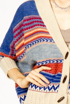 tribal oversized cardigan. :) love this this, want this, need this.