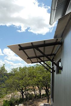 Corrugated Metal Awning // Lake Flato