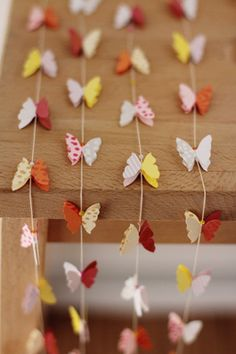 butterfly garlands.