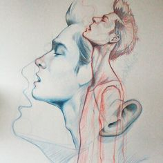Side Face Drawing, Guy Drawing, Drawing Sketches, Drawings, Boy Sketch, Face Sketch, Profile Drawing, Face Illustration, Mirror Art