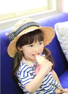 Toddler Child Fedora 2Colors  Black&White polkadot by elleandsh, $27.00