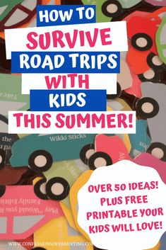 Are you going on a road trip this summer? We have 50 Car Trip Activities​ for the Whole Family + Free Printables! #printables  #freeprintable #roadtrip #kids #summer #summerfun