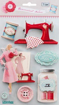 Tilda 3D Stickers: Sewing - Tilda© - Scrapbooking - Other Crafts - Casa Cenina