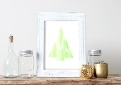 Christmas Tree Water Color Print Christmas by HearMeRoarQuotes