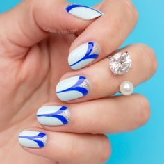 elegant nails, pretty blue nails, party nails