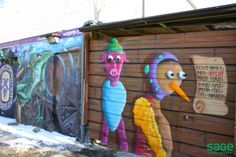Graffiti Alleys in Beaconsfield Village, Toronto Toronto, The Neighbourhood, Graffiti, Outdoor Decor, The Neighborhood, Graffiti Artwork, Street Art Graffiti