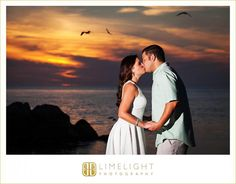 Limelight Photography, www.stepintothelimelight.com, Engagement, Fort Desoto, Florida, Photography, Beach, Blue, White, Sunset, Birds