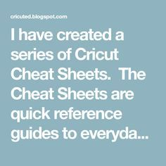 ****Cyndi uses this a lot!****I have created a series of Cricut Cheat Sheets. The Cheat Sheets are quick reference guides to everyday tasks in Cricut Design Space with t. Cricut Air 2, Cricut Help, Cricut Vinyl, Cricut Fonts, Cricut Cards, Cricut Tutorials, Cricut Ideas, Sewing Machine Projects, Cricut Craft Room