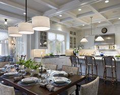 Beautiful white kitchen. Love the open floor plan. Robert A.M. Stern Architects - House on Lake Michigan