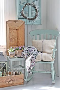 Country chic. Love the colours of the granny crochet plaid.