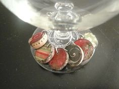 Christmas Themed Cork Wine Charms Red and by AccentsHomeDecor, $6.99