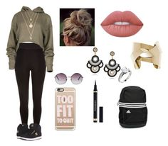 """""""Method"""" by janinelolove on Polyvore featuring Monki, Casetify, Lime Crime, Yves Saint Laurent, adidas and DC Shoes"""
