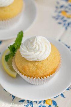 Limoncello Cupcakes   Buttercream topped cupcakes with a triple dose of limoncello
