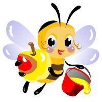Bee brings honey!