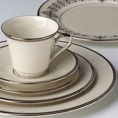 I love setting a fancy table. Lenox Solitare