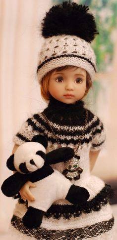 Outfit for Little Darlings Dianna Effner Girl Dolls, Baby Dolls, Sasha Doll, Crochet Doll Clothes, Hello Dolly, Knit Fashion, Cute Dolls, Little Darlings, Doll Patterns