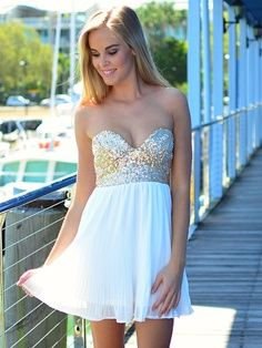 :)i♥ this beautiful White sparkling dress