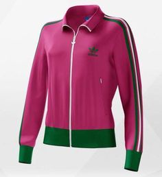 pink & green adidas firebird jackets