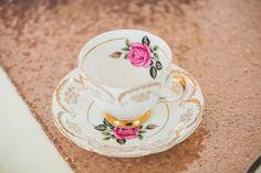 Pretty wedding teacup