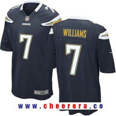 Men's 2017 NFL Draft Los Angeles Chargers #7 Mike Williams Navy Blue Team Color Stitched NFL Nike Elite Jersey