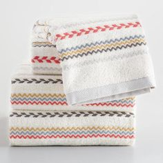 One of my favorite discoveries at WorldMarket.com: Striped Liya Towel Collection
