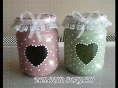Diy Bottle, Wine Bottle Crafts, Mason Jar Crafts, Mason Jar Diy, Bottle Art, Garrafa Diy, Decoupage Jars, Handmade Crafts, Diy Crafts