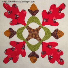"www.fabrictherapy.blogspot.com Lori Smith's pattern ""Miss Emilie's Garden"""