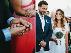 Bridal bouquet with rosemary and lavender! See more http://www.love4weddings.gr/lavender-wedding-antiparos/ #lavenderweddingflowers #destinationweddingsingreece