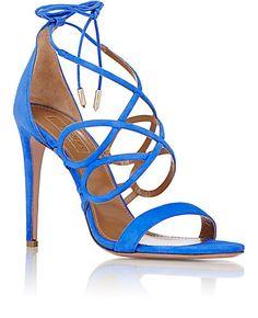 Aquazzura Gigi Ankle-Tie Sandals - Heels - Barneys.com