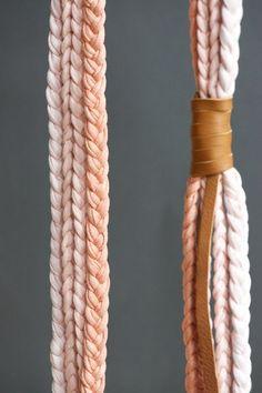 Ombre de bucle de collar tela hilo trenzado por lebenslustiger, $52.00