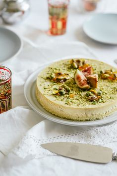Rosewater Cheesecake with Pistachio Praline More