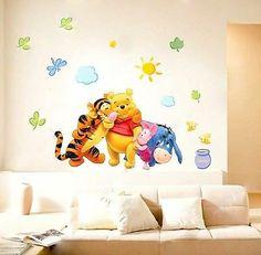 Baby Boy Winnie The Pooh Nursery | Winnie The Pooh Baby Nursery Room Wall Sticker Friends for sale