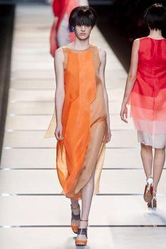 Fendi S/S '14 | Trendland: Design Blog & Trend Magazine -- love the orange hue