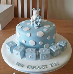 cute baby shower cake idea! I like the blocks for a themed shower.
