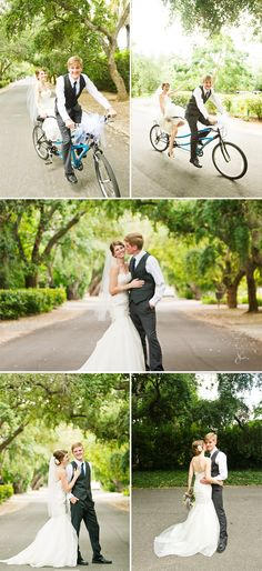 tandem bike! I love this, we love our tandem bike. what cute pictures!