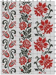 This Pin was discovered by Хри Cross Stitch Borders, Cross Stitch Flowers, Cross Stitch Charts, Cross Stitch Designs, Cross Stitching, Cross Stitch Patterns, Stitching Patterns, Folk Embroidery, Cross Stitch Embroidery