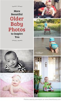 Love These Inspiring Baby Photos! So many great ideas for older babies.  iHeartFaces.com