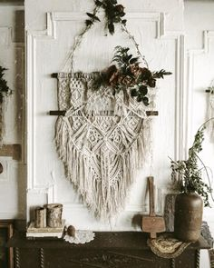 macrame wall hanging More