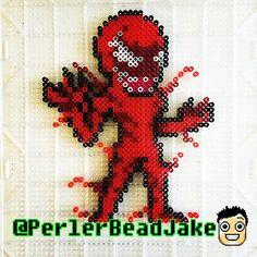 Carnage - Spiderman perler beads by perlerbeadjake