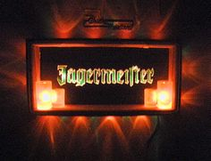 Hand made Jagermeister bar light with light up shot glasses  made by Creatively Kustomized...kevin0420742@gmail.com