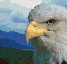 eagle FREE cross stitch chart