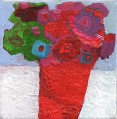 Original acrylic painting on canvas by Imogen Skelley - floral, colour
